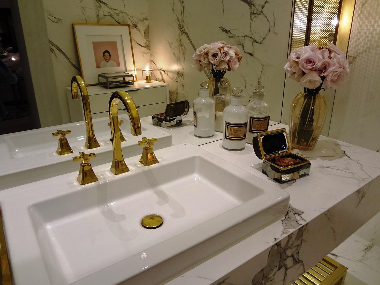 badeværelse - guld